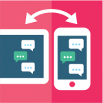 sms received on two devices illustration