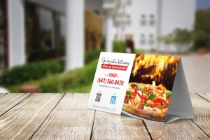 restaurant leaflet with sms marketing message