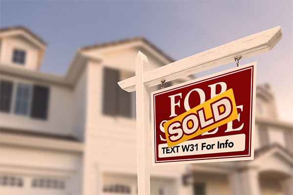 Real Estate ad banner containing sms marketing message